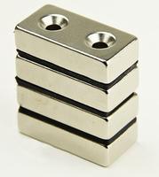 Magnet neodymový KV 40x 20x 10mm s otvory