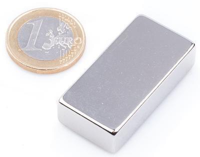 Magnet neodymový KV 40x 20x 10mm - 1