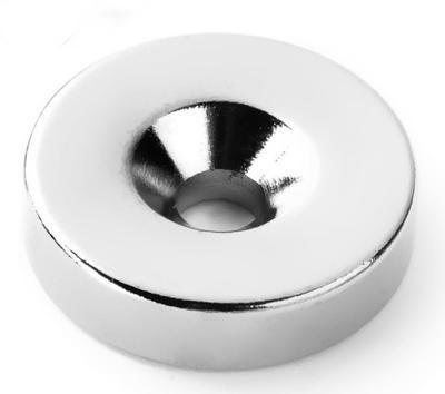 Magnet neodymový  KR 20x 9/4,5 x 5mm s otvorem - 1