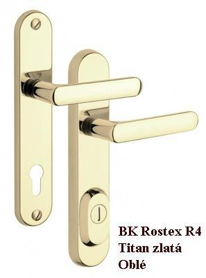 Bezpečnostní kování ROSTEX R4 / 90 Titan Zlatá