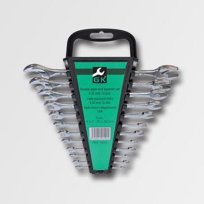 Sada plochých klíčů 6-32 mm 12 dílů chrom