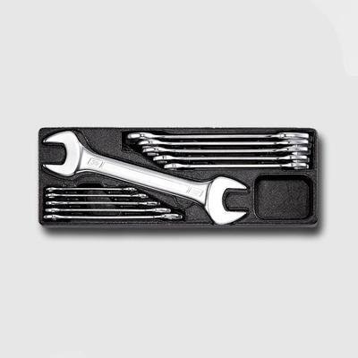 Sada plochých klíčů oboustranných 11 dílů - matné, plastové plato A