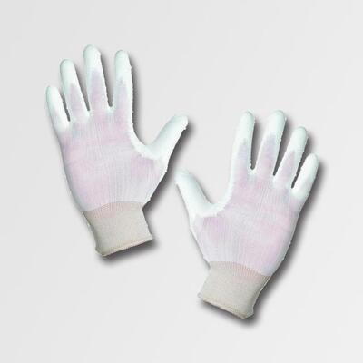 """Rukavice nylonové BUNTING - POLY, bílé, velikost 7"""""""