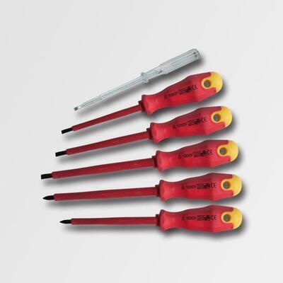 Sada elektrikářských šroubováků 1000V 5 dílů+zkoušečka napětí 1000V EN60900:2004