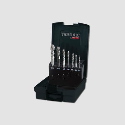 Sada jednorázových závitníků typ C, 35°RSP, HSS-CO 7-dílná Terrax