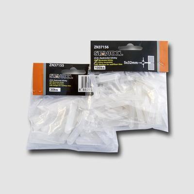 Klínky plastové 0-5mm, 100ks