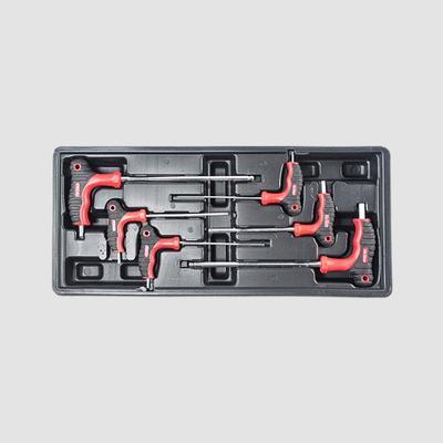Sada 6dílů imbus klíčů s T-rukojetí, plastové plato