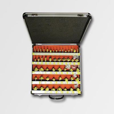 Sada tvarových fréz 50dílů AL kufr-koroze  stopek