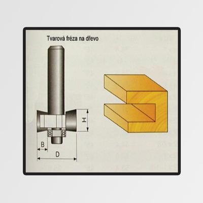 Tvarové frézy do dřeva 9,4x4mm
