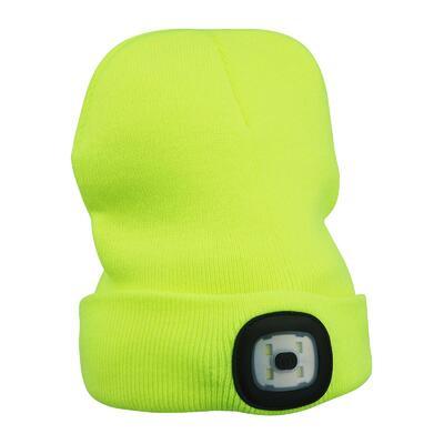 Čepice se svítilnou 3,7V 300 mAH žlutá, bez loga