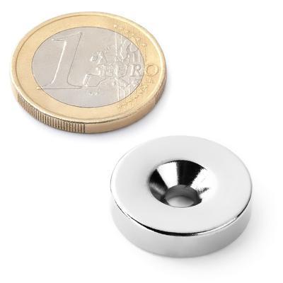 Magnet neodymový  KR 20x 9/4,5 x 5mm s otvorem - 2