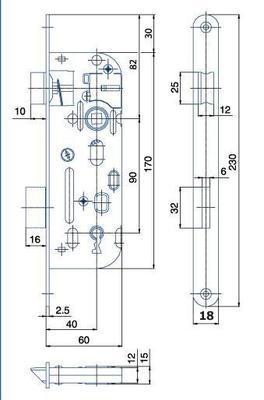 Zámek zadlabací 01-15 C P-L - 2