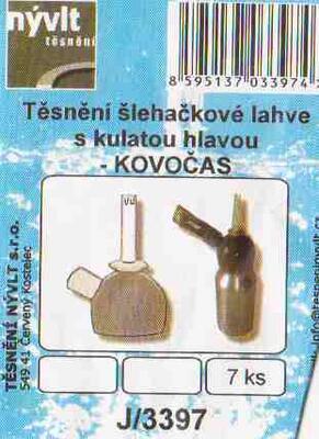 Sada těsnění pro šlehačkové lahve KOVOČAS s kulatou hlavou - 2