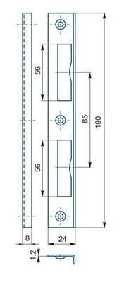 Protiplech zapadací K 192 - 2