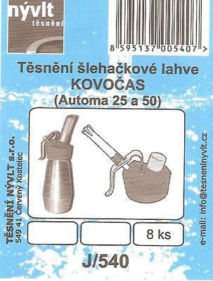 Sada těsnění pro šlehačkové lahve KOVOČAS (Automat 25 a 50) - 2