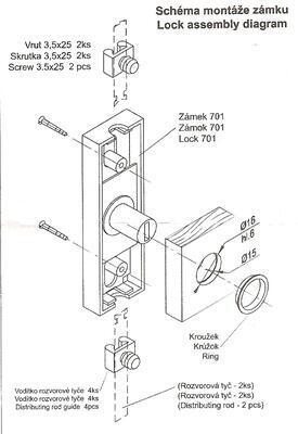 Zámek nábytkový ROSTEX 701 - 2