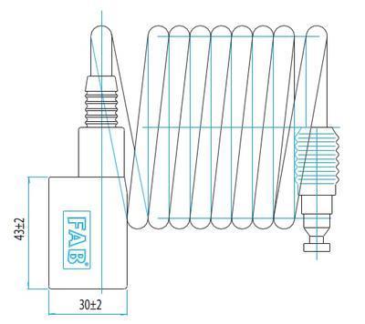 Zámek lankový FAB 7318T - 2