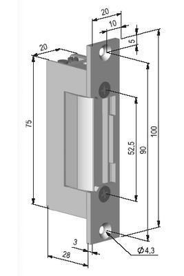 Zámek elektrický BeFo 0611 - 2
