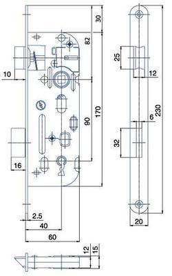 Zámek zadlabací 01-15 P-L - 2