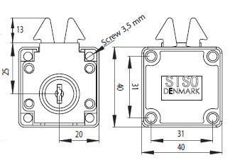 Zámek nábytkový SISO X-855 CR - 3