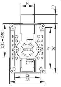 Zámek nábytkový SISO X-965 CR Pravý - 3