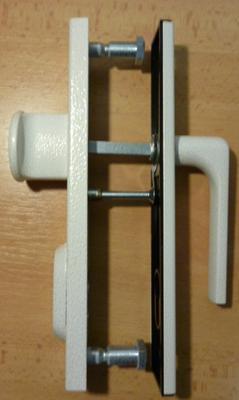 Bezpečnostní kování ROSTEX R1 /D/ 90 ANTIK Bílá - 3