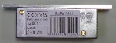 Zámek elektrický BeFo 0611 - 3