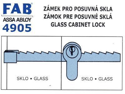Zámek FAB pro posuvná skla 4905 - 3