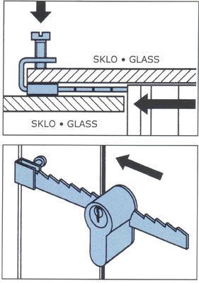 Zámek FAB pro posuvná skla 4905 - 4