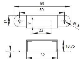 Zámek nábytkový SISO X-855 CR - 5