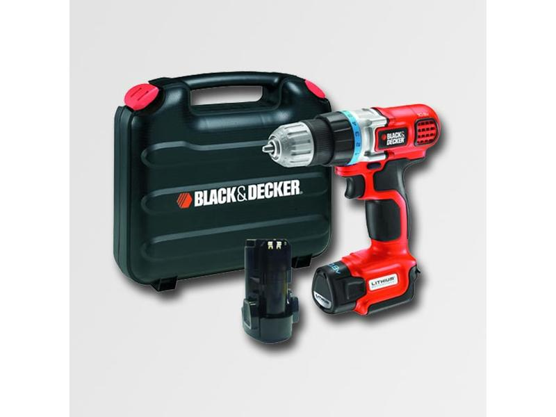 Black & Decker Aku vrtačka 10,8V LI-Ion, 2 baterie, kufr