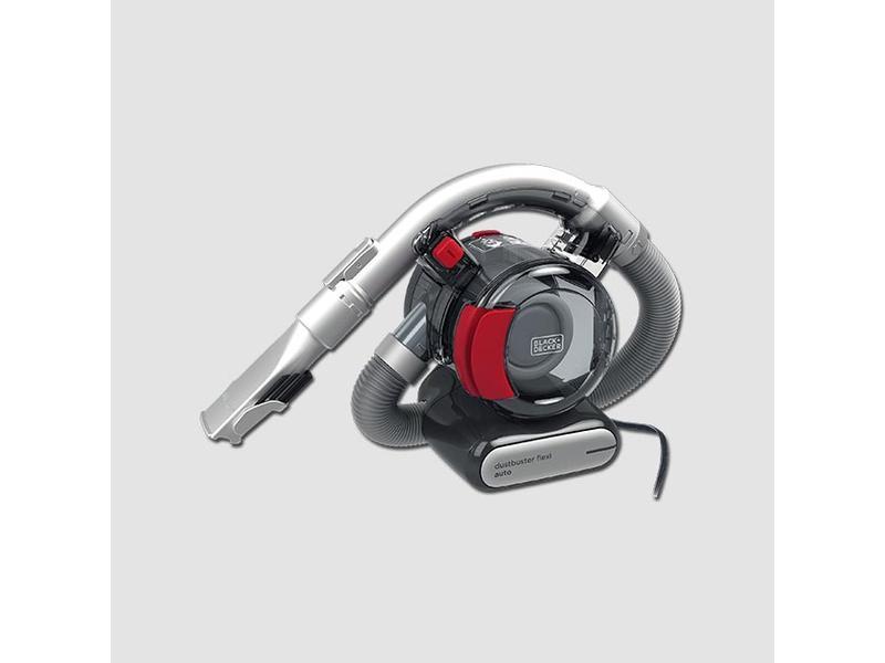 Black & Decker Autovysavač 12V Dustbuster Flexi, 3-stup. filtrace, šedá/oranžová
