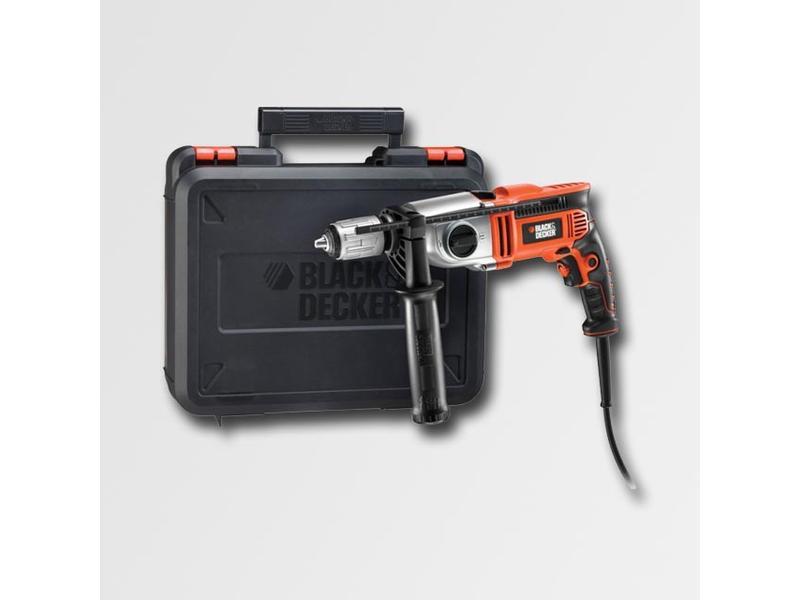 Black & Decker Elektrická příklepová vrtačka 750W 2 rychlosti,kufr