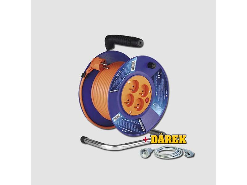 EMOS Prodlužovací kabel na bubnu 230V/50m + ZDARMA SVÍTILNA P3507