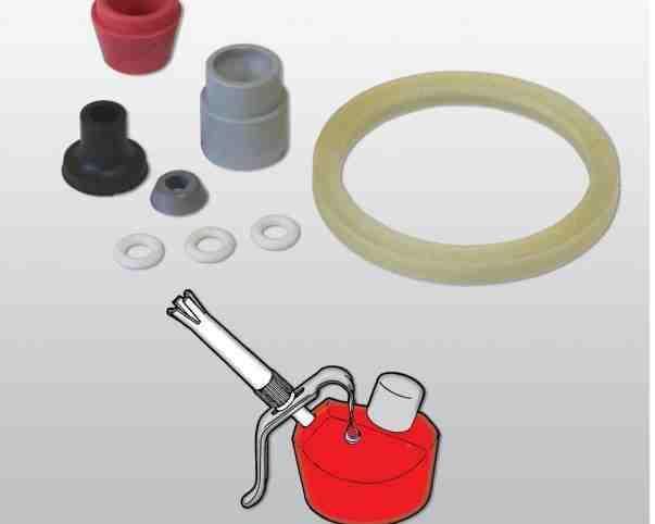 Těsnění Nývlt spol s r.o. Sada těsnění pro šlahačkové lahve KOVOČAS (Automat 25 a 50)