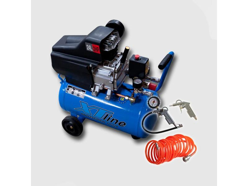 XTline Kompresor 2HP1,5KW 8bar 24L BM-2024 +3dilná sada